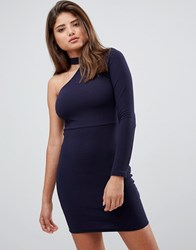 Ax Paris One Sleeve Mini Dress Navy