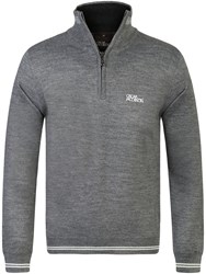 Oscar Jacobson Brock Tour Half Zip Jumper Grey