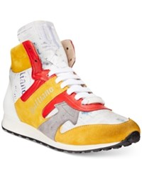 John Galliano Wedge Multicolor High Top Sneakers Men's Shoes