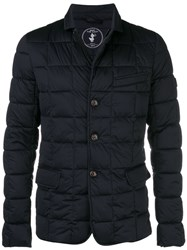 Save The Duck Buttoned Padded Jacket Blue