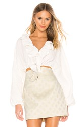 C Meo Collective Distinct Top In Ivory White