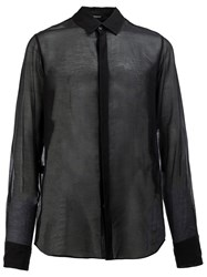 Ann Demeulemeester Sheer Shirt Black