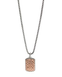 John Hardy Men's Sterling Silver And Bronze Palu Small Dog Tag Pendant Necklace 26 Silver Bronze