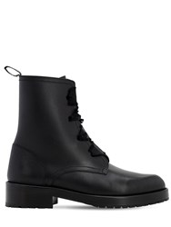 Red Valentino 30Mm Comballet Leather Ankle Boots Black