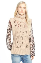 Plenty By Tracy Reese Sleeveless Turtleneck Sweater Dawn