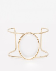 New Look Moon Stone Cuff Bracelet White