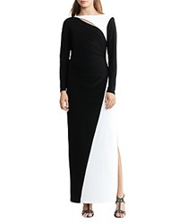 Ralph Lauren Two Tone Gown Black Lauren White