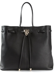 Roberto Cavalli Jaguar Head Tote Black