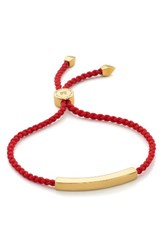 Monica Vinader Women's Linear Bar Friendship Bracelet Gold Coral