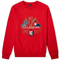 Paul And Shark Nautical Crest Crew Sweat Red