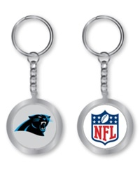 Aminco Carolina Panthers Spinning Keychain Silver Team Color