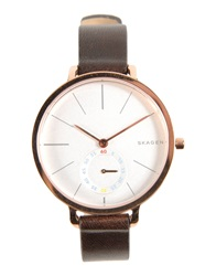 Skagen Denmark Wrist Watches Dark Brown