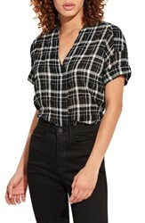 Ayr The Hero Plaid Shirt Black White Plaid