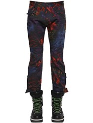 Dsquared Printed Tie Dye Cotton Biker Pants Multicolor