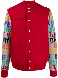 United Colors Of Benetton Printed Sleeve Bomber Jacket 60