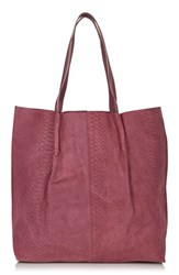 Topshop Embossed Suede Shopper