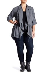 Lucky Brand Soft Drapey Jacket Plus Size Black