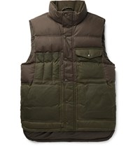 Filson Cruiser Two Tone Quilted Cotton Down Gilet Green