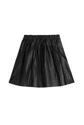 Zadig And Voltaire Leather Skirt Black