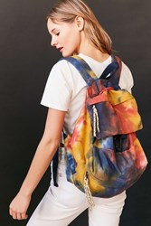 Urban Outfitters Tie Dye Bungee Cord Backpack Orange