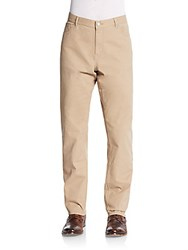 Michael Kors Stretch Cotton Twill Pants Khaki
