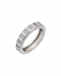 Chopard Estate Ice Cube 18K White Gold Pave Diamond Band Ring Size 5