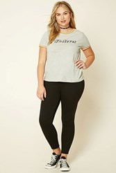 Forever 21 Plus Size Fleece Lined Leggings