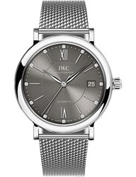 Iwc Iw458110 Portofino Stainless Steel And Diamond Watch