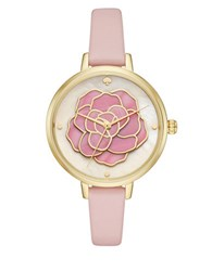 Kate Spade Atlas Leather Strap Metro Watch Pink