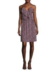 Michael Michael Kors Floral Ruffled Wrap Dress Ballet