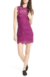 Free People Women's Daydream Lace Minidress Dark Purple