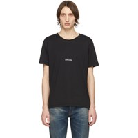 Saint Laurent Black Logo T Shirt