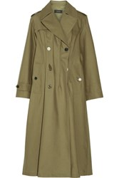 Joseph Cotton Twill Trench Coat Army Green
