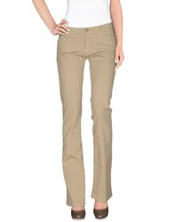 Miss Miss By Valentina Casual Pants Beige