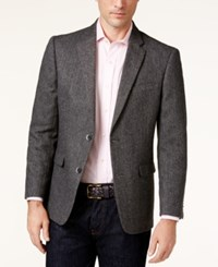 Tommy Hilfiger Men's Slim Fit Gray Herringbone Sport Coat