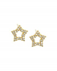 Tai Golden Cz Star Stud Earrings