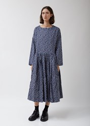 Casey Casey Pasha Rouch Dress In Navy Floral Print Navy