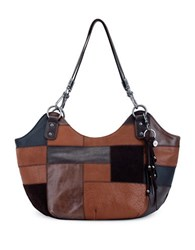 The Sak Indio Leather Satchel Brown Patch