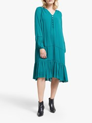 And Or Luciana Cutwork Midi Dress Shaded Spruce