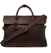Bennett Winch Full Grain Leather Briefcase Brown