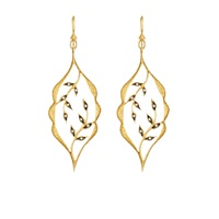 Cathy Waterman Vine Drop Earrings