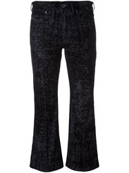 Diesel Black Gold Cropped Bootcut Jeans Blue