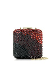 Pinko Papaia Satin And Strass Clutch W Chain Strap