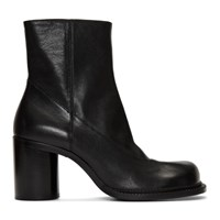 Maison Martin Margiela Black Leather Zip Boots
