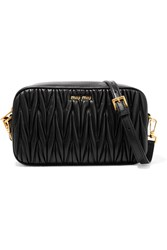 Miu Miu Matelasse Leather Camera Bag Black