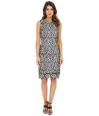 Rsvp Brittany Lace Dress White Black Women's Dress