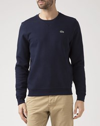 Lacoste Navy Blue Crew Neck Sports Sweatshirt