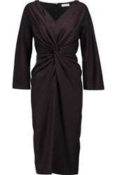 Vionnet Gathered Wool Dress Black
