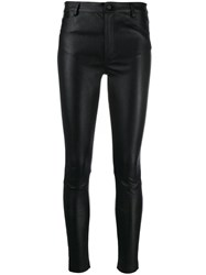 Drome Waxed Fitted Trousers Black