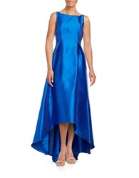 Adrianna Papell Hi Lo Flared Gown Yves Blue